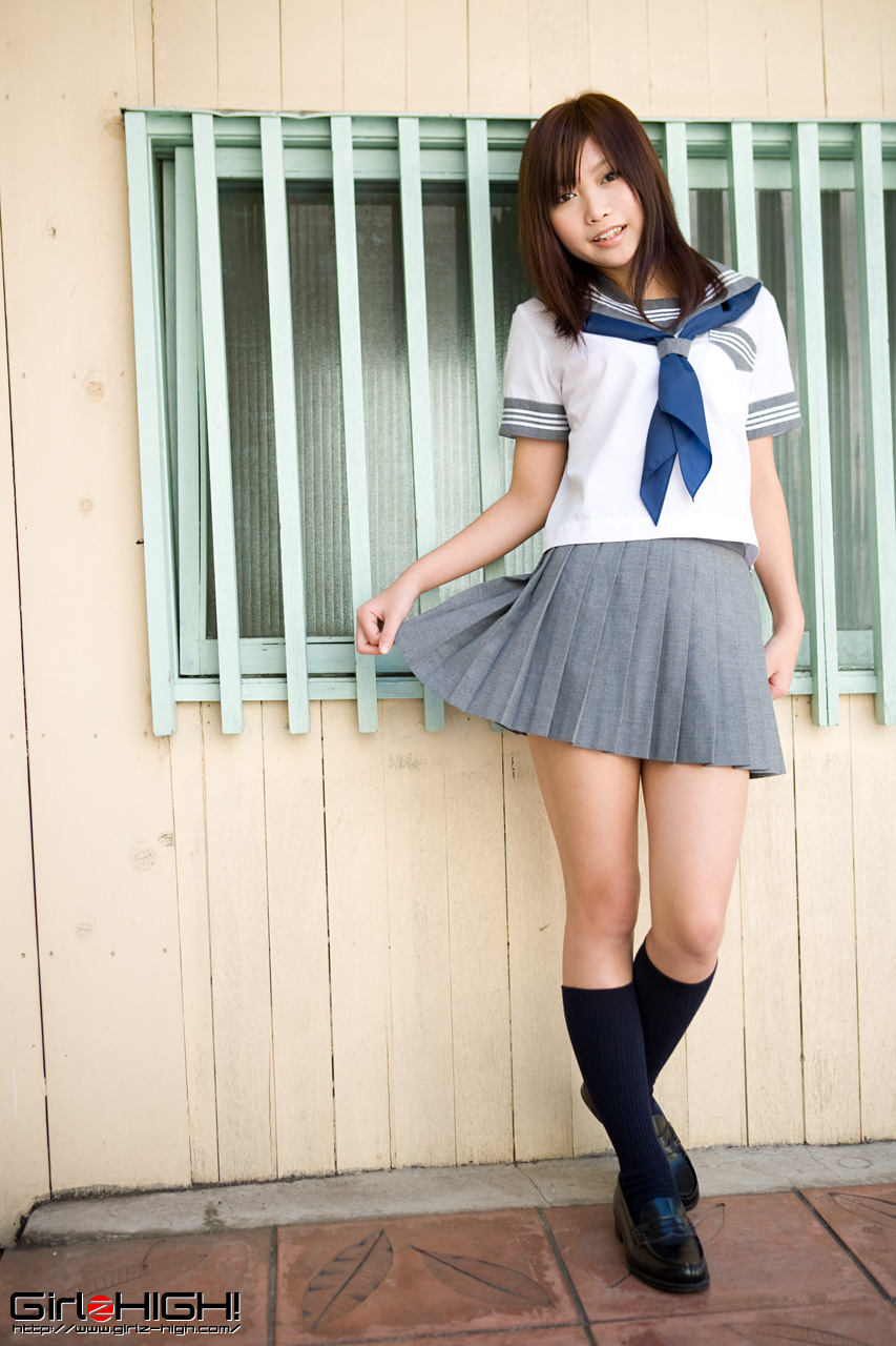 Asian schoolgirl white socks bloomer 7