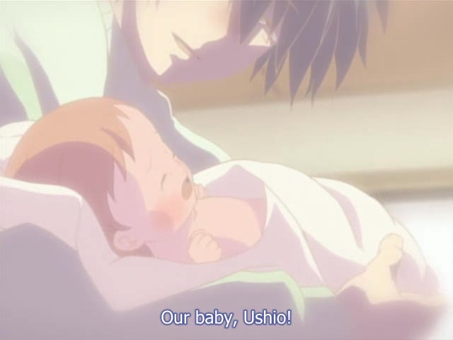 Anime Giving Birth Video http://animewriter.wordpress.com/2009/01/31/clannad-after-story-16-the-birth-of-nagisas-dream-and-the-end-of-tomoyas-dream/