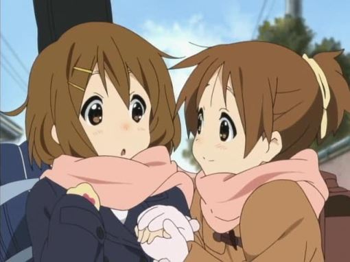Keeping Yui's hands warm