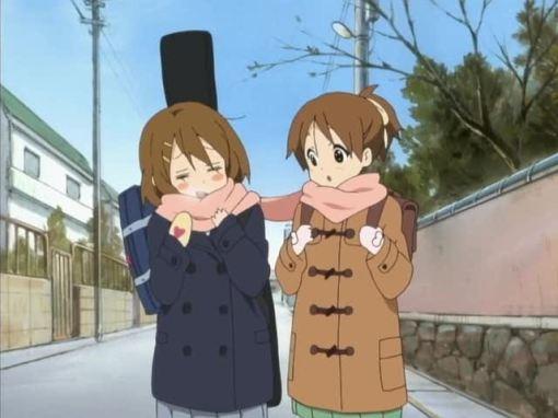 sharing a scarf