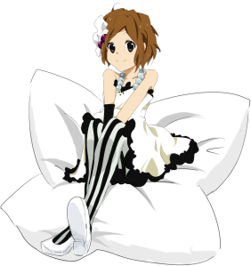 Yui and the flower pillow.