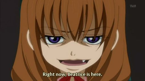 beatrice is here right now