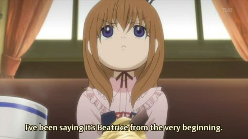I've been saying it's Beatrice since the begining