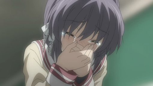 Ryou shedding tears of joy