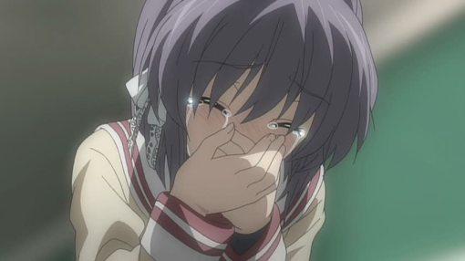 Ryou shedding tears of joy