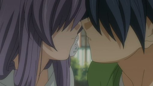 Tomoya and Kyou lips almost touch