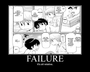 Failure is Relative Motivator