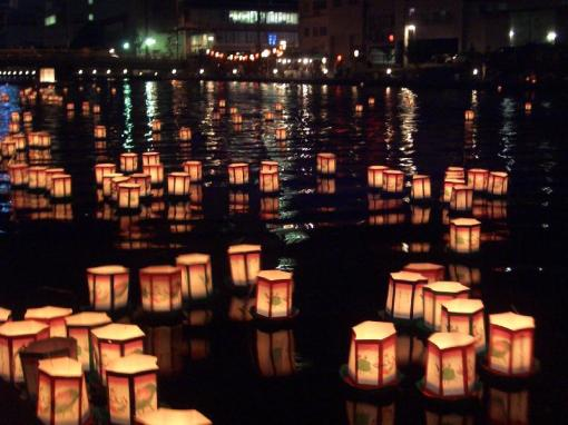 obon candle boats