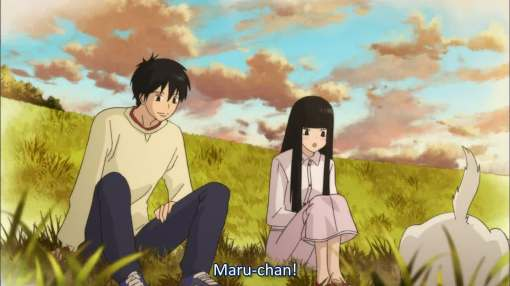 Sawako with Kazehaya and Maru-chan