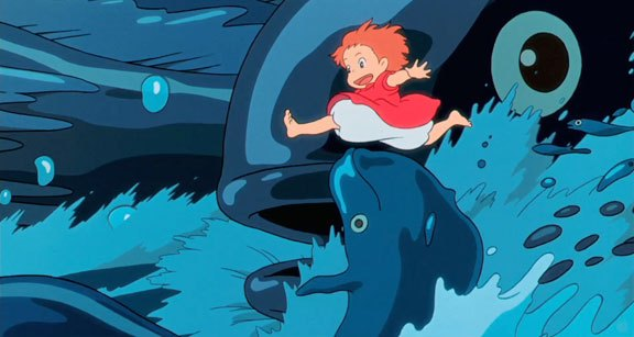 12 moments in anime 2009 #9; watching Ponyo where it was ...